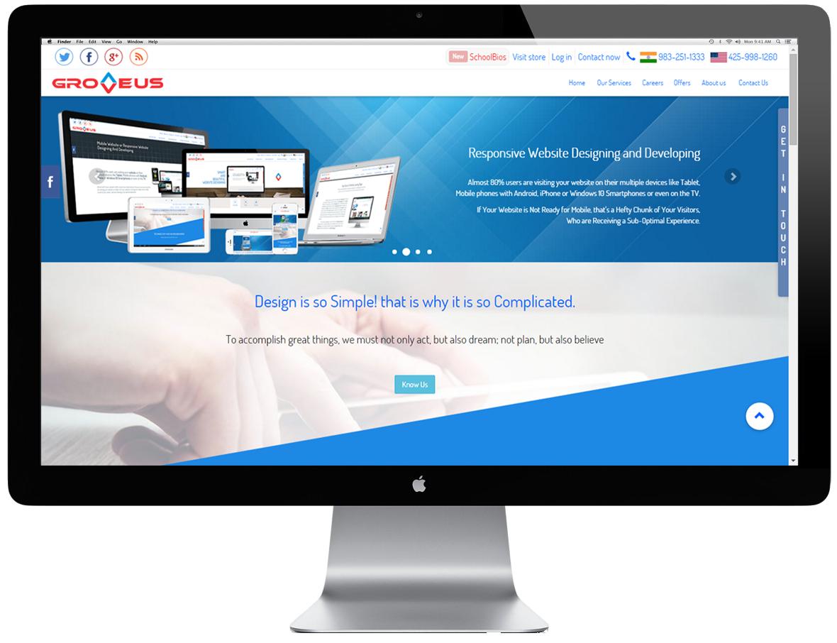 Rrsponsive Website for Large Screen