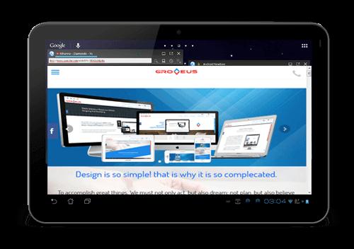 Rrsponsive Website for Tablet